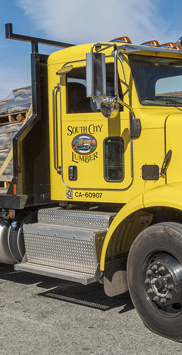 South City lumber delivery truck
