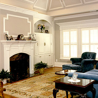 Kelleher moulding in is a classic in this living room