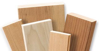 Assorted dimensional lumber