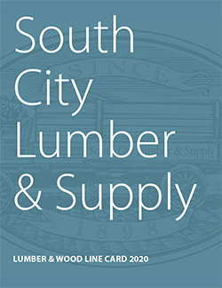 Cover of South City Lumber & Supply Lumber & Wood Line Card 2020 PDF