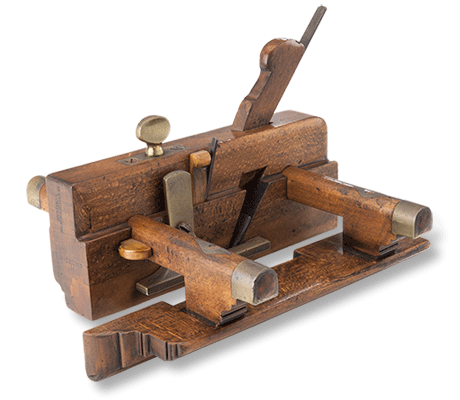 Antique brass and wood moulding plane