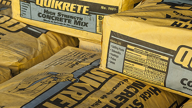 Bags of Quickrete High Strength Concrete Mix