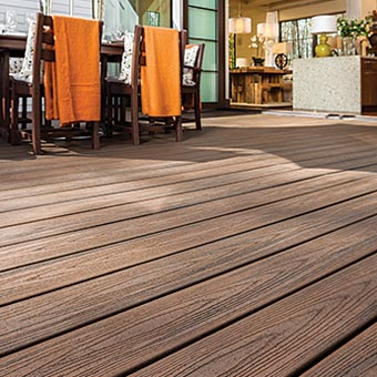 Deck Detail Showing The Deep Grain Pattern And Rich Color Of Trex Transcend Boards