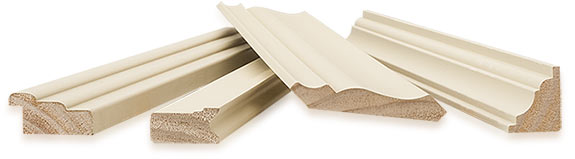 A selection of Body guard exterior mouldings showing end profiles