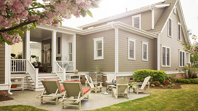 James Hardie fiber-cement siding gives historical accuracy to this home renovation