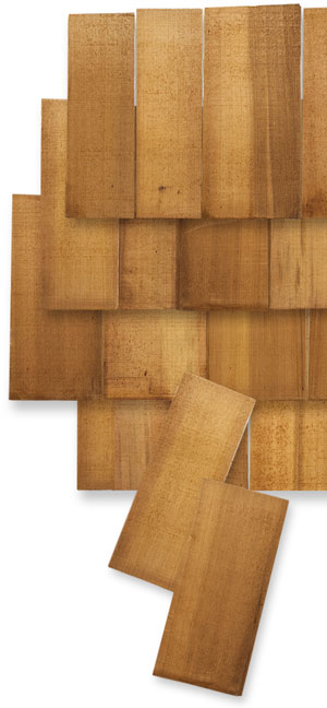 A sampling of Red Cedar shingles