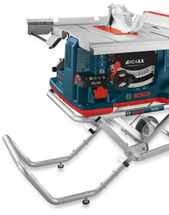 Bosch REAXX Table Saw on a stand