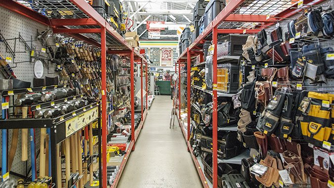 The hand tool aisle at South City Lumber