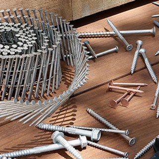 Assortment of Simpson Strong-Tie construction fasteners