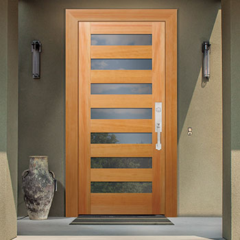 The Urban Series Of Front Entry Doors In Wood With Glass By Rogue Valley
