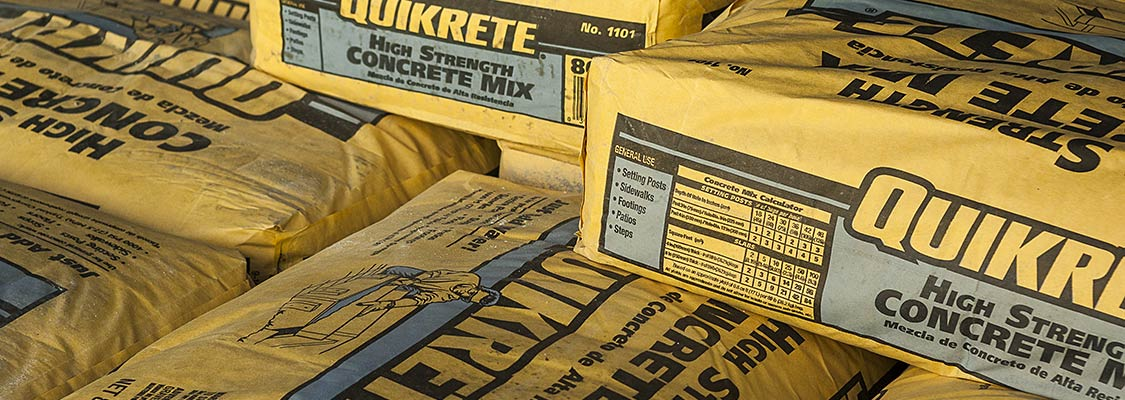 Bags of Quikrete High Strength Concrete Mix