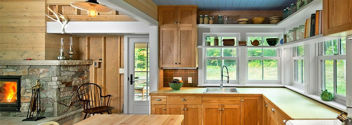 Country kitchen with Marvin Ultimate Casement windows and French door.